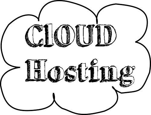 Wolke mit Cloud Hosting